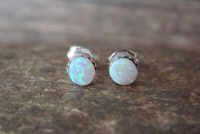 Zuni Sterling Silver Green Ice Opal Stud Earrings!