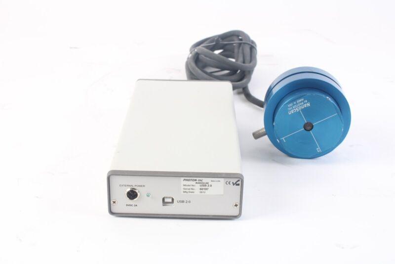 Photon Nanoscan USB 2.0 W/ NS-SI/9/5 Laser Beam Profiler 9mm, 5um