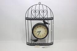 Ashton Sutton H963-20 Bird Cage Metal Wall Clock  - Preowned
