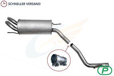 VW Transporter 1.9D 2.0 2.4D 2.5 SWB Auspuffanlage Mittel+Endschalldämpfer