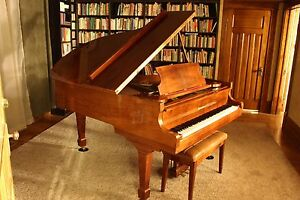 """6' true grand piano 72"""" long Schafer & Sons  (not a baby grand)"""