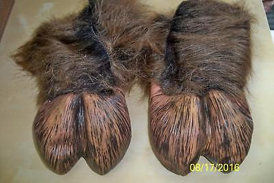 ADULT FURRY BEAST LATEX HOOF HEARTED FEET PAWS ANIMALS COSTUME 1008BSF