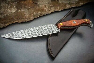 Absolutely the best, 13 layer ladder pattern Hand Forged Damascus fighter