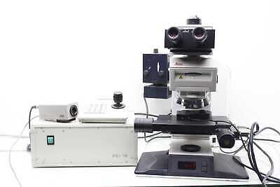 Leica Dmrxe Microscope W Prior 2 Axis Positioning Controller Jvc Video