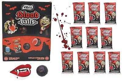 GUMMI 10er Pack Vampir Blut Bälle mit saurer flüssiger Füllung (Blut Süßigkeiten)