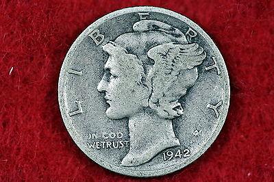 Estate Find 1942 - S  Mercury Dime!!!!   #H0128
