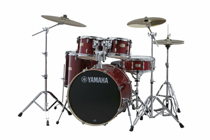Yamaha Stage Custom Birch 5-Piece Shell Pack (Cranberry Red)