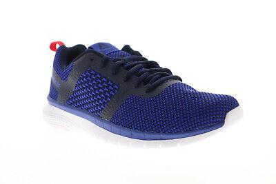 Reebok Print Run 3.0 CN4656 Mens Black Canvas Athletic Lace Up Running Shoes 9