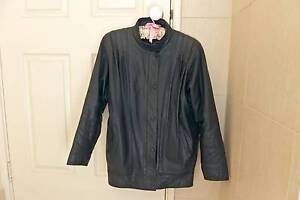 Ladies black leather jacket, size 10-12 Doubleview Stirling Area Preview