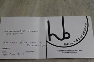 Gift Voucher valued at $150 @Jayde@the Hair and Beauty Project Wi Wallsend Newcastle Area Preview
