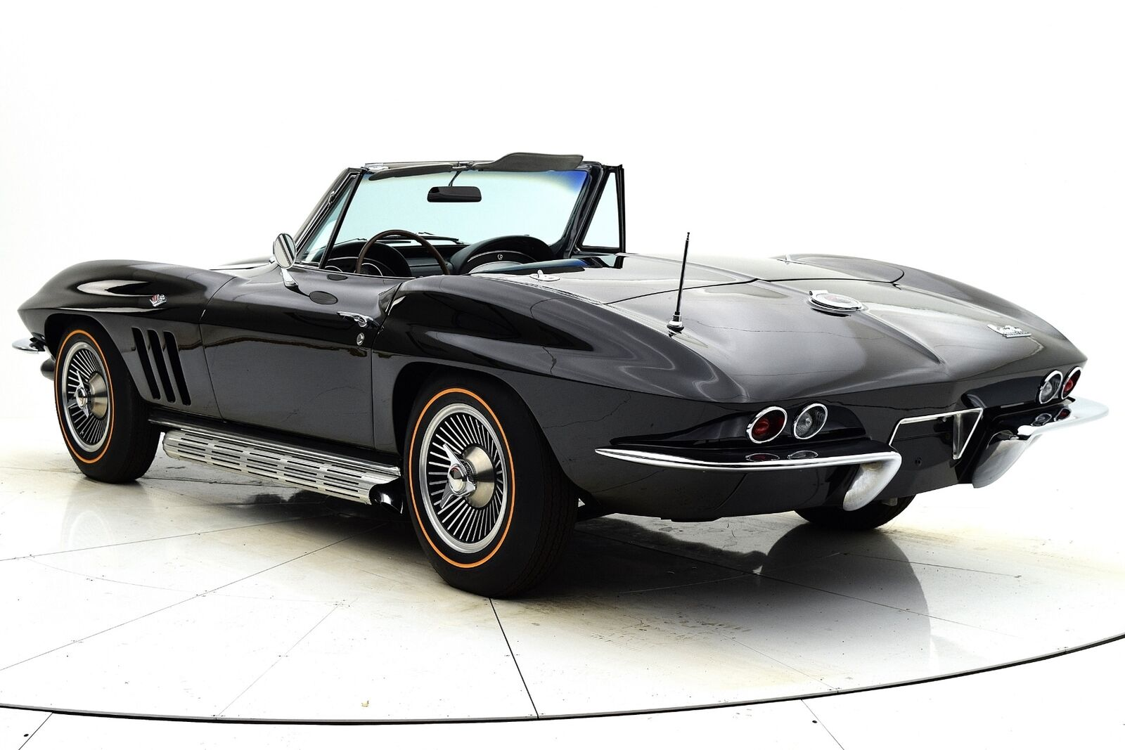 1966 Black Chevrolet Corvette Convertible  | C2 Corvette Photo 4