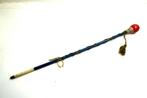 "Vintage Drum Major wood baton stick ~ Red, White and Blue ~ Patriotic!! 29"" long"