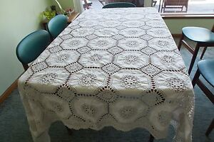 Vintage never used hand made lace tablecloth Hunters Hill Hunters Hill Area Preview