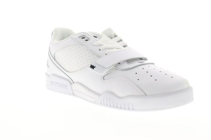 Supra Breaker Low 06577-101-M Mens White Leather Low Top Skate Sneakers Shoes