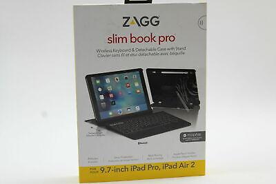 ZAGG Slim Book Pro for iPad Pro, iPad Air 2 Ultrathin Case Bluetooth Keyboard Hi