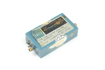 Watkins Jhonson Low Noise Gaasfet Amplifier  8-12ghz 15vdc Wj-5310-64