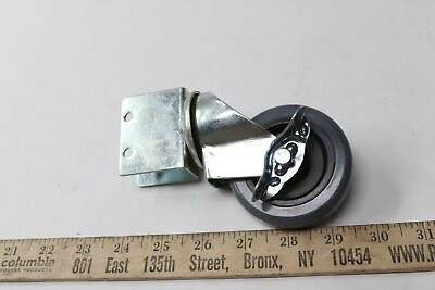 Bracket Swivel Caster Poly Wheel With Lock 3 X 7/8 - 2 Pack - $16.99