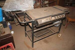Flat Top BBQ with Gas Bottle  on wheels Marrar Coolamon Area Preview