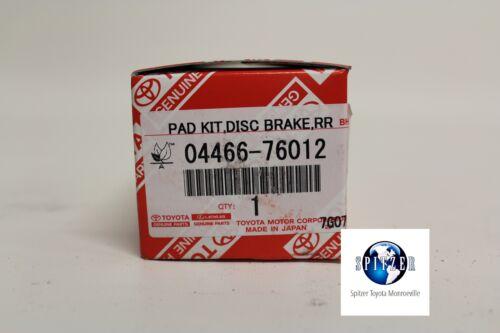 PRIUS REAR Brake Pads 2010-2011 OEM genuine Toyota 04466-76012