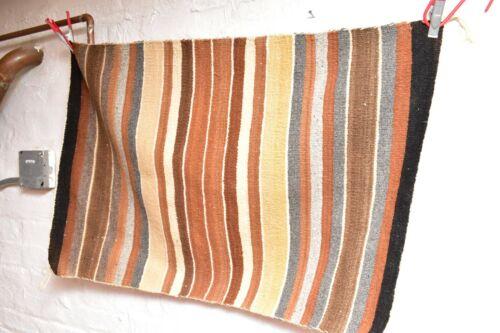 ANTIQUE Navajo Rug native american indian weaving VINTAGE 34x22 TEXTILE STRIPED