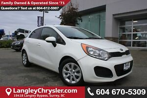 2014 Kia Rio LX *LOCAL BC TRUCK*ONE OWNER* DEALER INSPECTED*