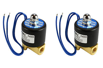2 Lot 14 Npt Electric Brass Solenoid Air Water Valve Nc 12v Dc Pneumatic