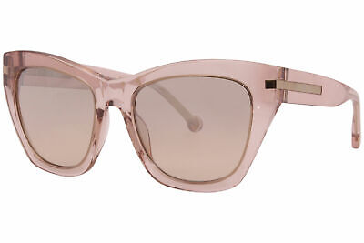 Carolina Herrera SHE831 776R Sunglasses Women's Blush/Brown Lenses Cat Eye 55mm