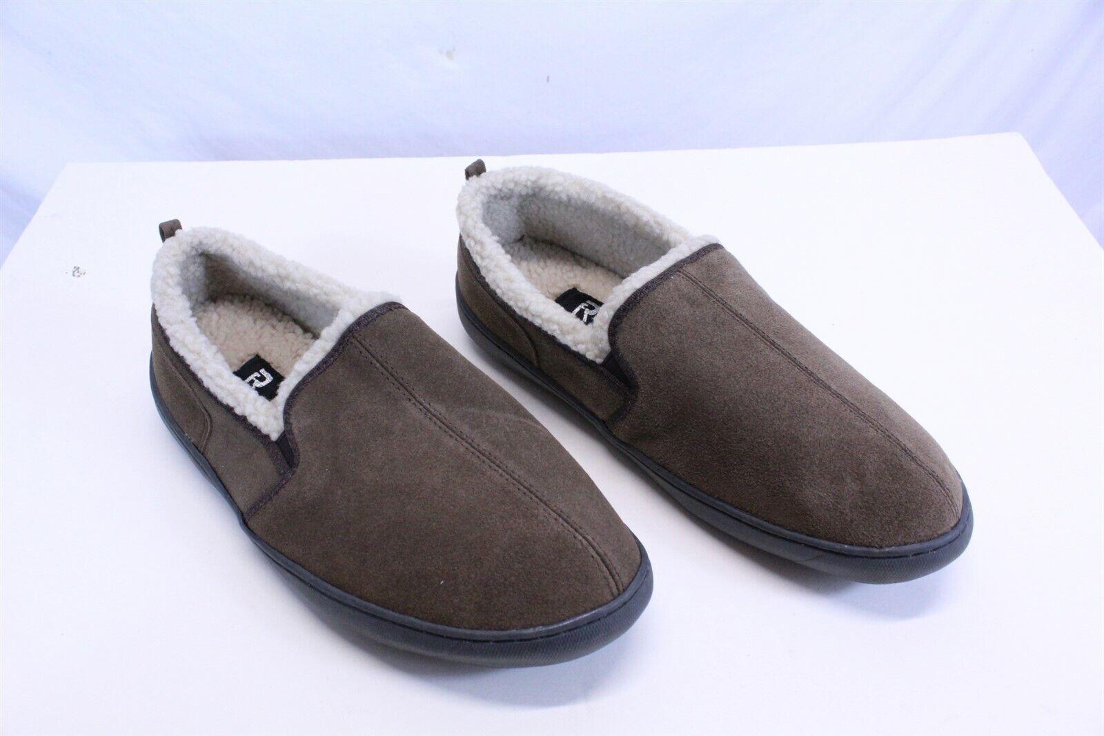 Men's Suede Fleece Lined Moccasin Slippers Indoor / Outdoor