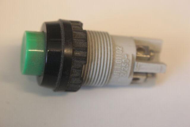 Taster Nr.7 Rafi 1.01.102 2polig ein grün 250V 2A