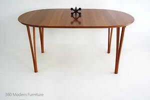 Stunning Dining Table Desk Hairpin Legs 20th Century Danish Narre Warren Casey Area Preview