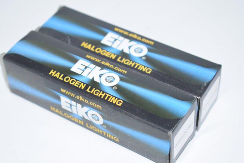 Lot of 2 NEW Eiko Q100CL/DC-120V 120V 100W T-4 Dc Bayonet Base Bulb