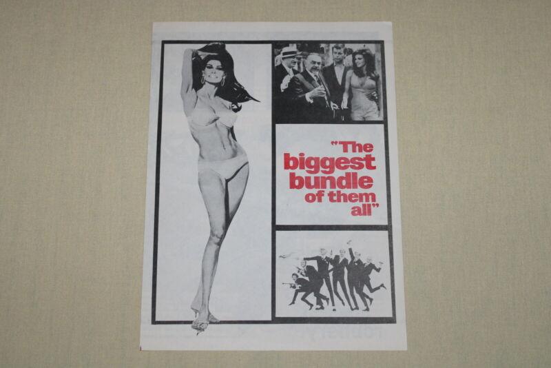 THE BIGGEST BUNDLE OF THEM ALL - herald handbill Raquel Welch Robert Wagner RARE