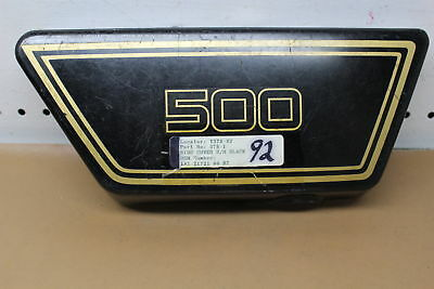 1976 1977 <em>YAMAHA</em> XS500 RIGHT SIDE COVER FAIRING COWL YTPU84