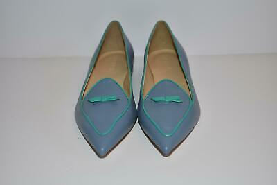 JCrew $148 Two-Tone Pointed-Toe Loafers Sz 8.5 Peri Shadow Blue H5521 (Pointed Tone)
