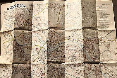 20724 alter Stadtplan Dresden 1:20.000 mit Straßenverzeichnis 1968