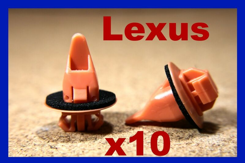 10 LEXUS wheel arch flare panel board lining moulding pinclips fastener