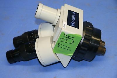 1 Used Meiji Techno Emz-2tr Trinocular Zoom Microscope With Swf20x Eyepieces 1