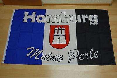 Fahnen Flagge Hamburg meine Perle Nr.3  Neu - 90 x 150 cm