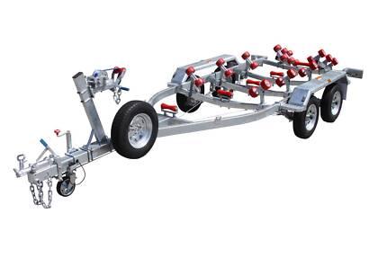 6mt Dual Axle Boat Trailer-Multi Roller(Braked)