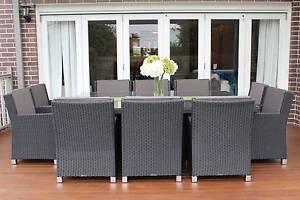 WICKER DINING SETTING,10 SEATS, CUSTOM  EUROPEAN STYLED,B/NEW Rocklea Brisbane South West Preview