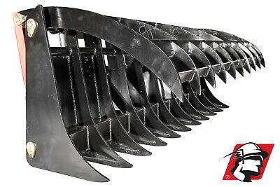84 Root Rake Debris Silage Rock Skid Steer Attachment For Mustang