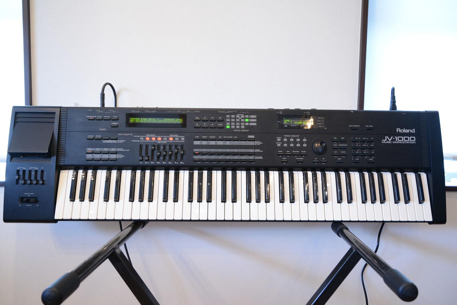 roland jv 1000 76key music workstation keyboard controller midi synthesizer ebay. Black Bedroom Furniture Sets. Home Design Ideas
