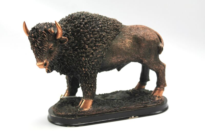 Big Sky Copper Works American Buffalo Bison Sculpture Figure Hermitage Pottery