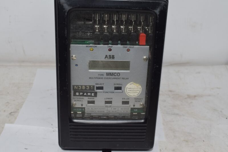ABB MMCO MART5Z3GC1 Multiphase Overcurrent Relay 5 Amp 48/125 VDC 9649A98