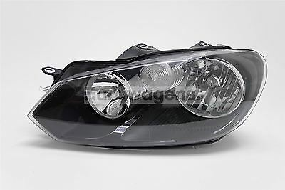 VW Golf MK6 08-12 Black Headlight Left Passenger Near Side N/S OEM Hella