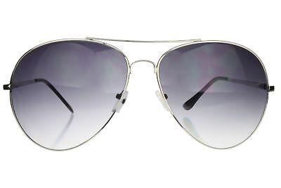 Aviator Sunglasses Extra Wide Frame 160mm XXL Large Oversized Silver Gray Lens Ag Aviator