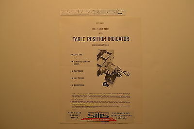 J149 Servo Products Co. 1967 Bulletin - Mill Milling Machine Power Table Feed