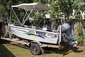 Quintrex 4.2m side console, 40Hp, 4 YAMAHA, Offroad Trailer xtras Brinsmead Cairns City Preview