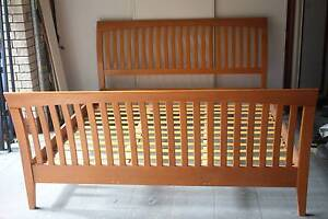 King Size Wood Bed, very good condition Bridgeman Downs Brisbane North East Preview