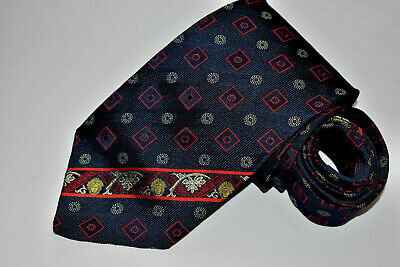 Men's Gianni Versace Blue   100% Silk  Neck Tie made in Italy